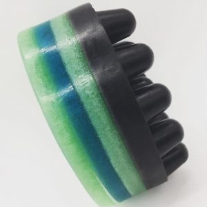Activated Charcoal Black and Green